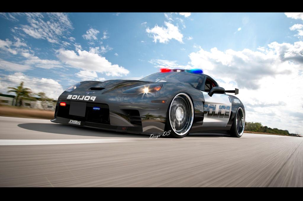 Corvette Police Car: Chevrolet-Corvette Z06X Concept Police Car DkdS By DKDS On