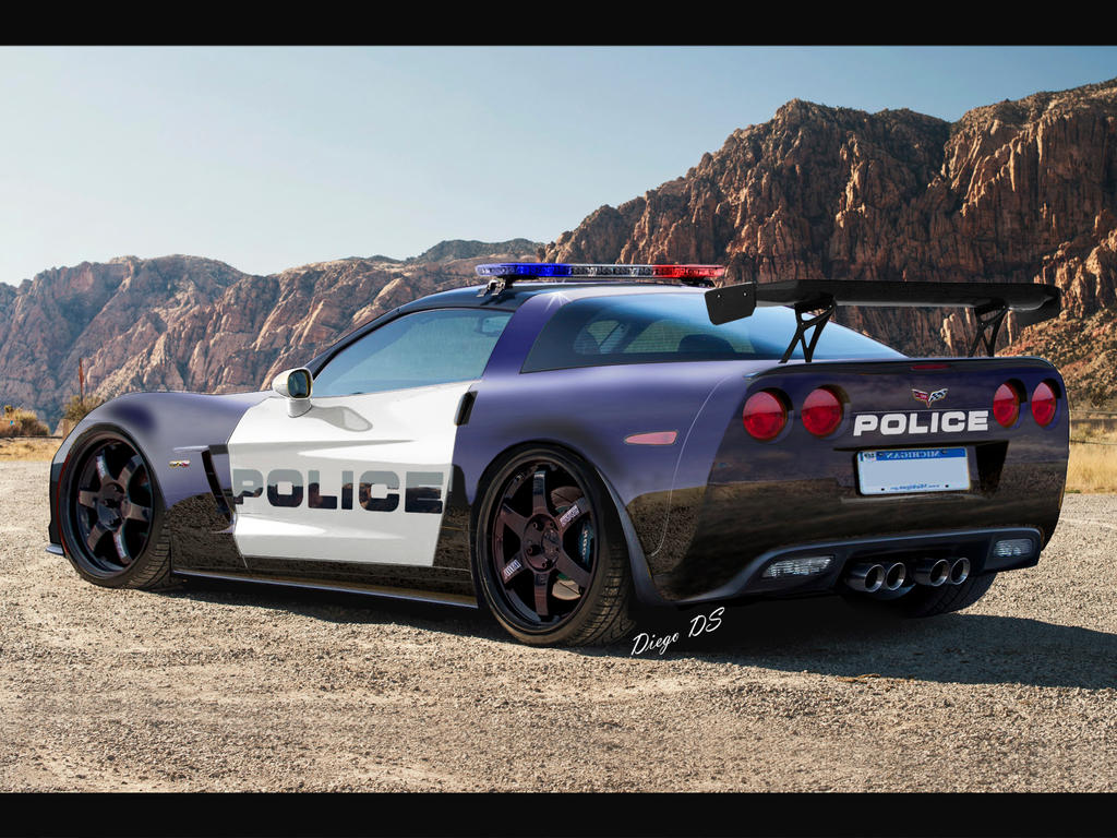 Corvette Police Car: 2013 Chevrolet Corvette C6 Z06 Police Car DkdS By DKDS On