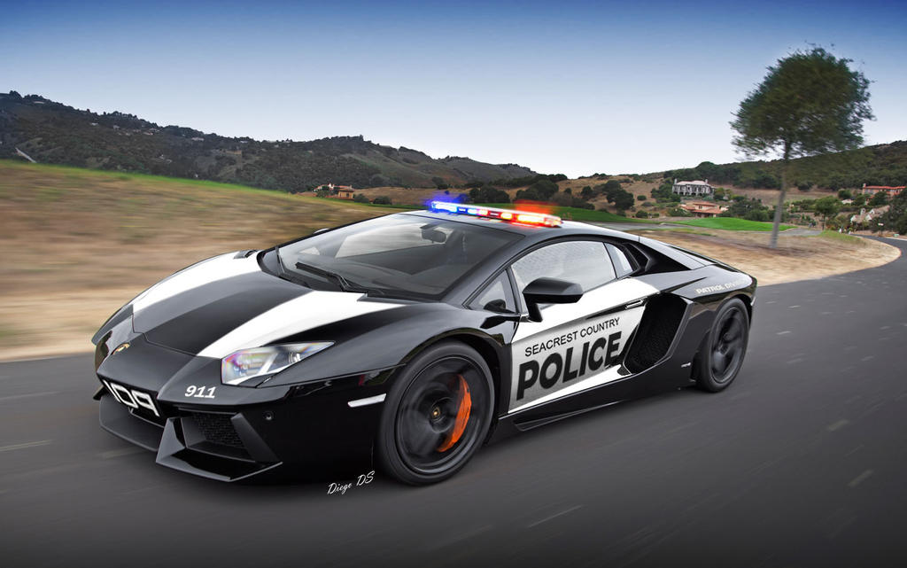 Lamborghini Aventador Police Car By Dkds On Deviantart
