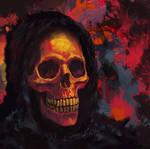 Skull 01 red orange