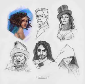 Cartoonish sketches list
