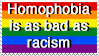 Homophobia is as bad as racism by Ryuuseinow
