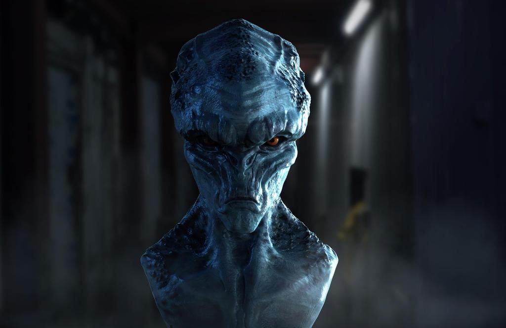 Alien Bust by nPlazannet