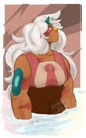 [Steven Universe] Jasper aka big buff pretty puff  by Listless-Erys
