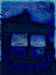 Haunted Barn Blue by KittenDiotima