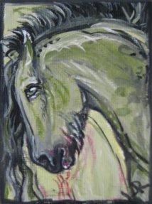ACEO Kelpie Pony by estellea