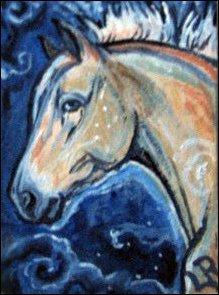 ACEO Starry Pony by estellea