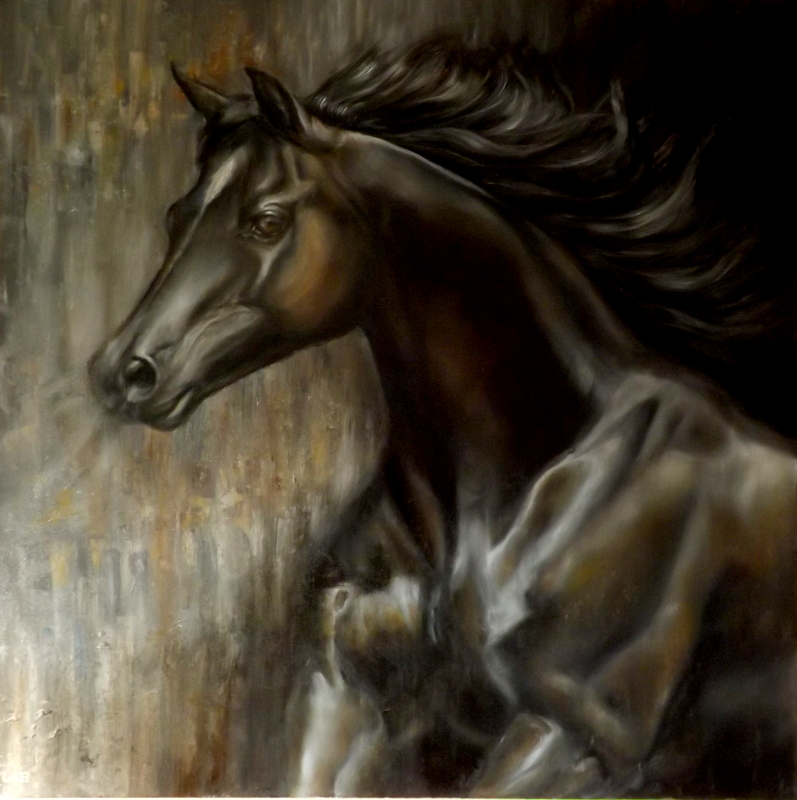 The black horse by jbillustration