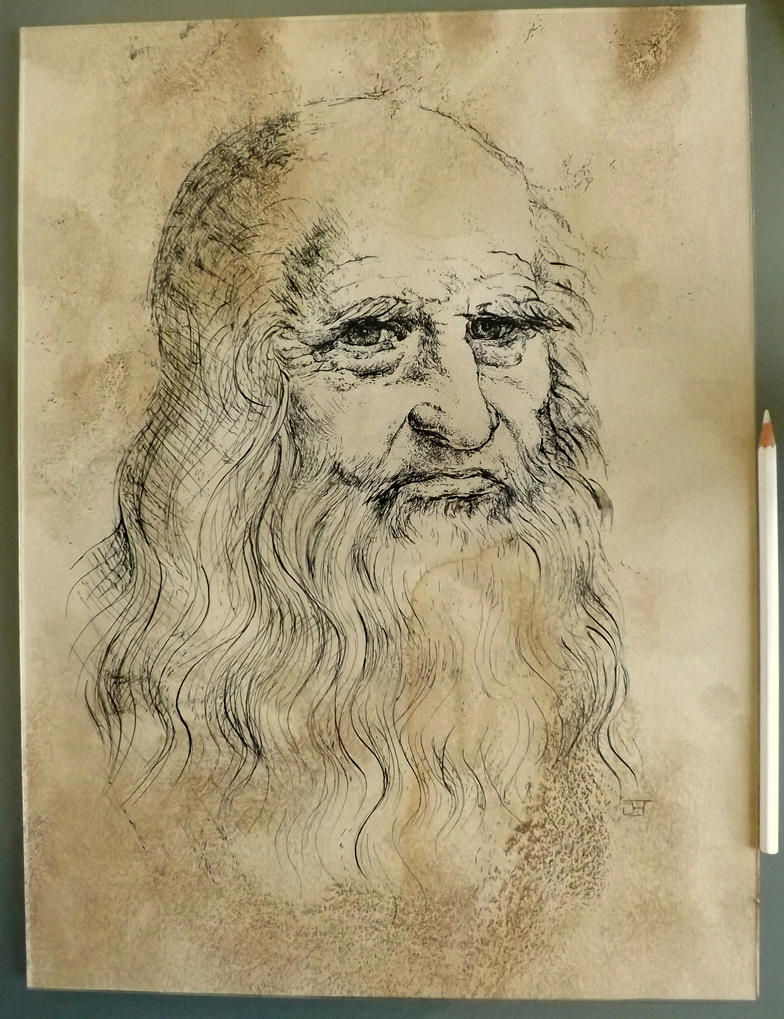 Leonard de Vinci by jbillustration