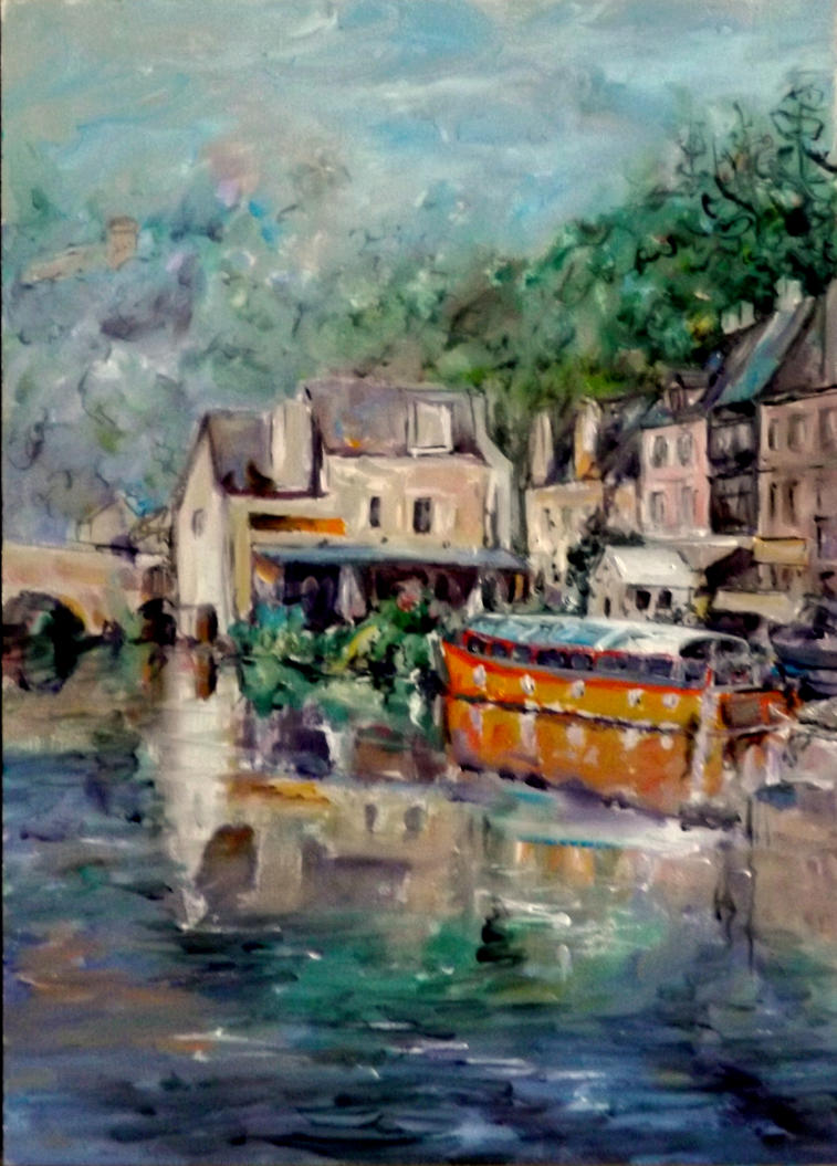 Port of Dinan by jbillustration
