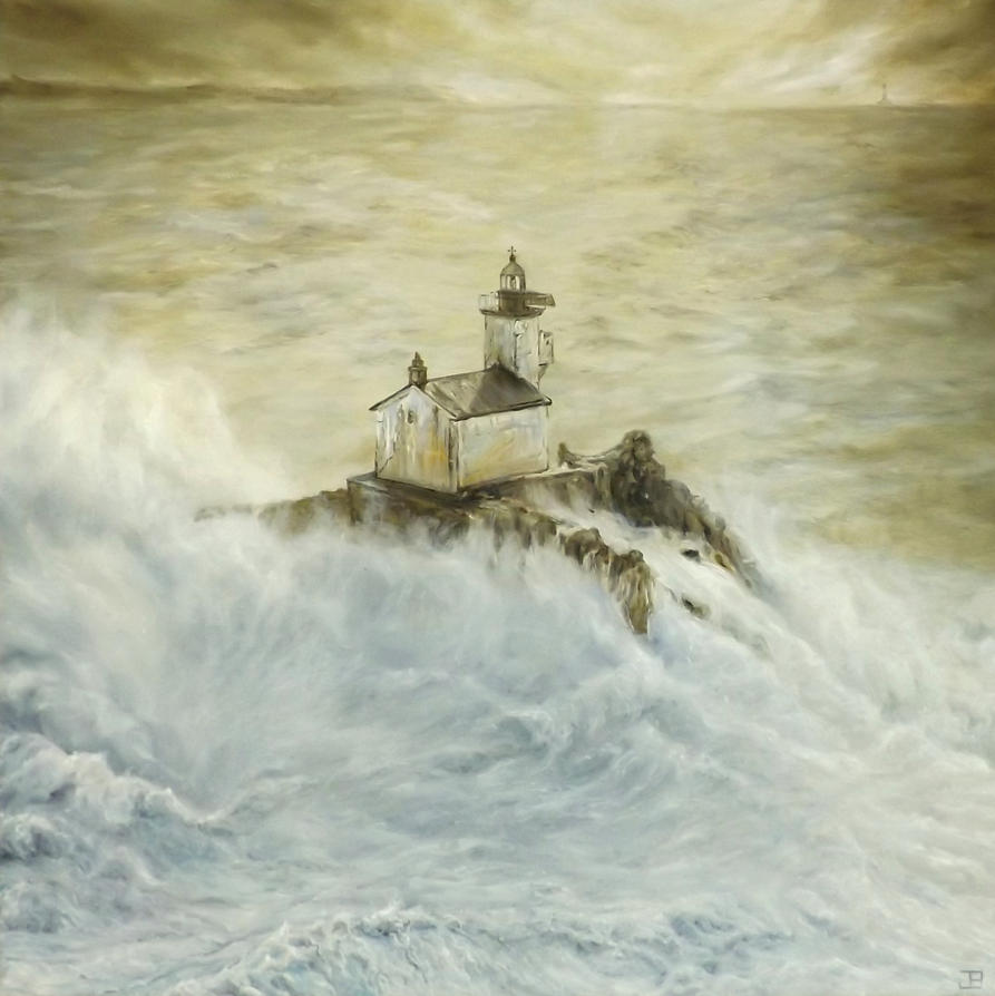 A painting for saving a lighthouse by jbillustration