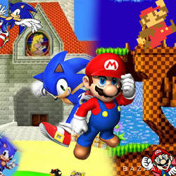 Mario and Sonic edit by Devinedan