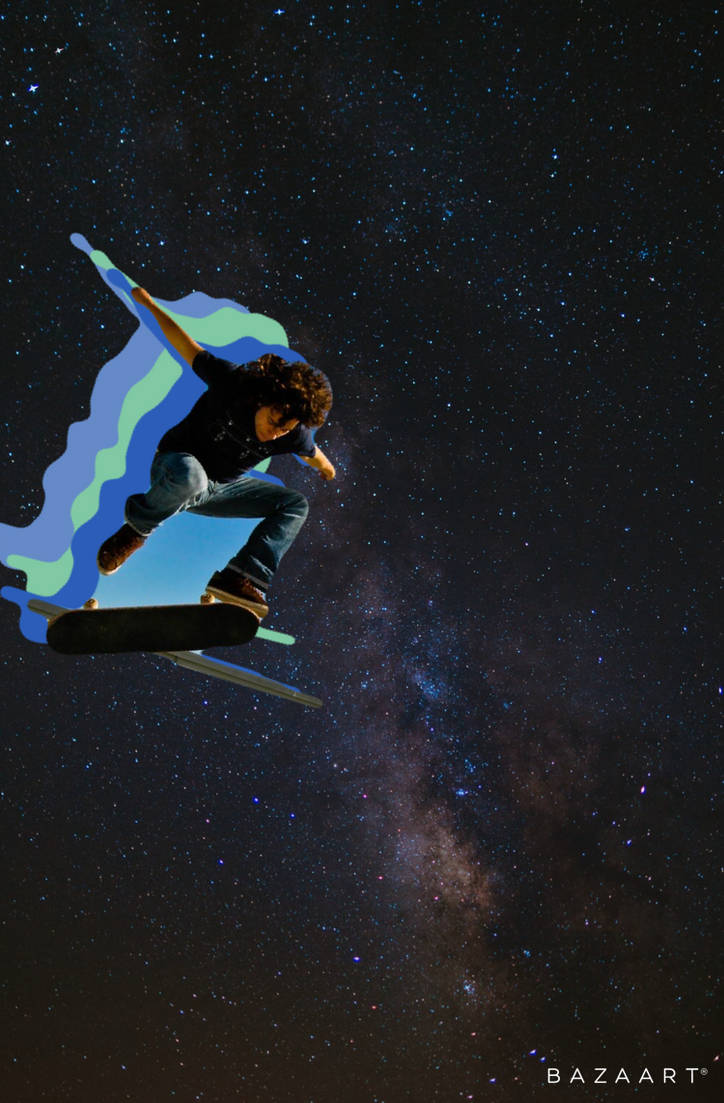 Skating through space edit. by Devinedan