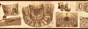 Grandpa's Submarine - Underwater Cafe Design