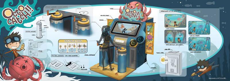 Octo Catch! Arcade Machine Design