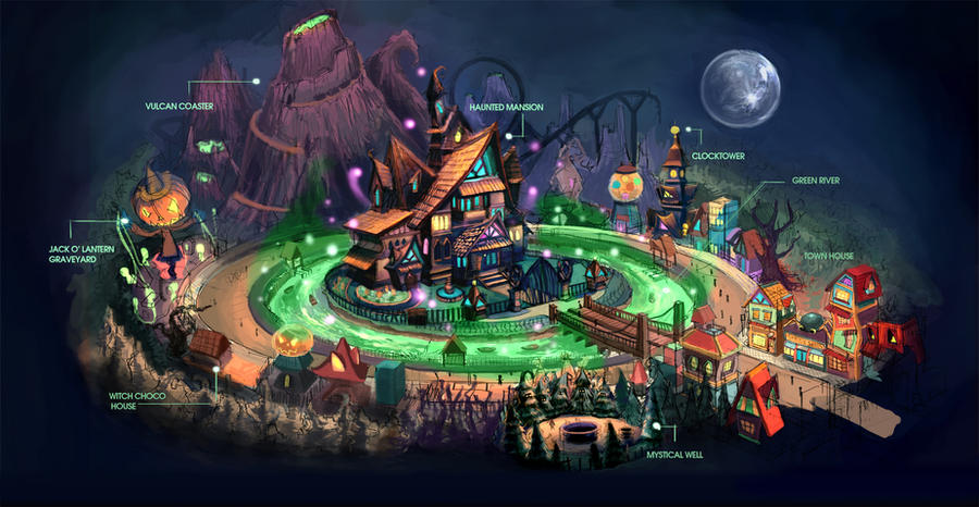 Halloween Town Map By Anacathie On Deviantart