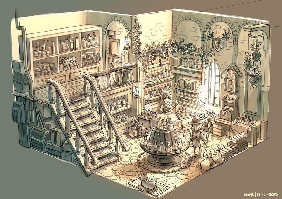 Potion Shop by nagisadreamer