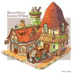 Richard Potter Exterior TV Shop - Colored