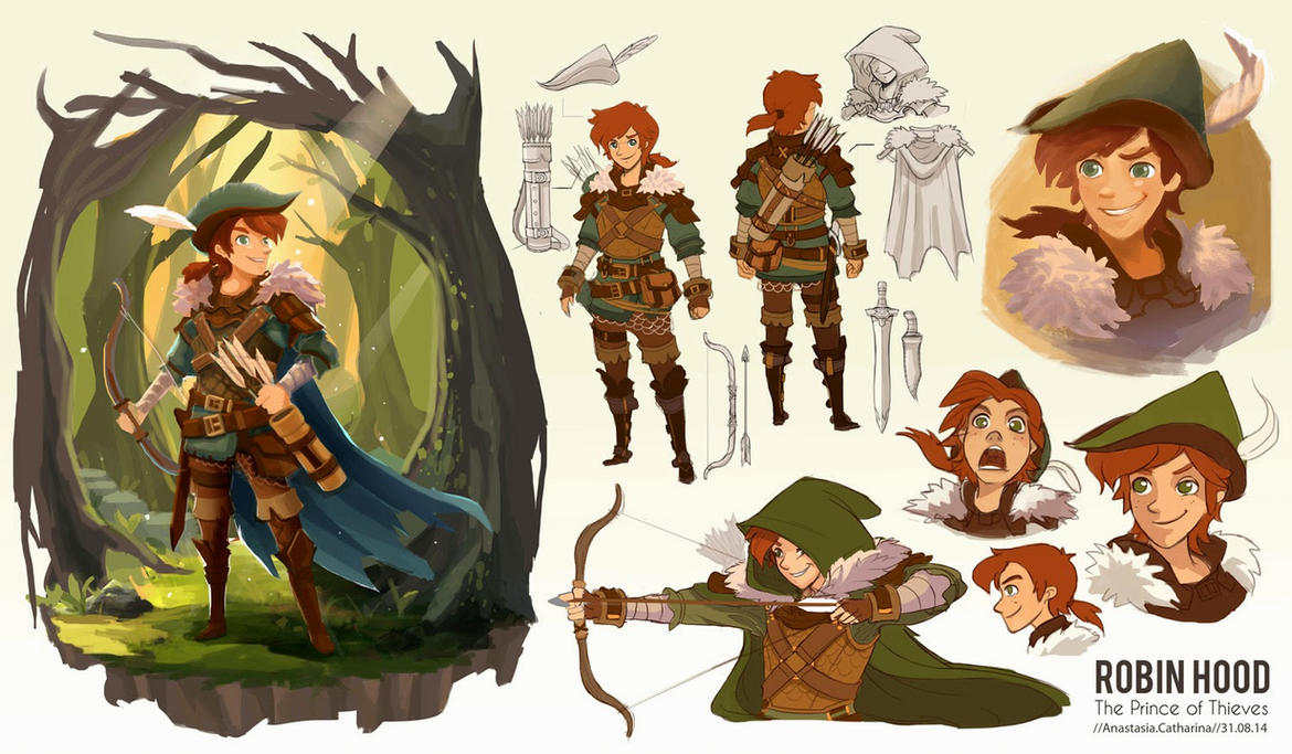 Character Design Masterclass Book : Robin hood re imagined by anacathie on deviantart