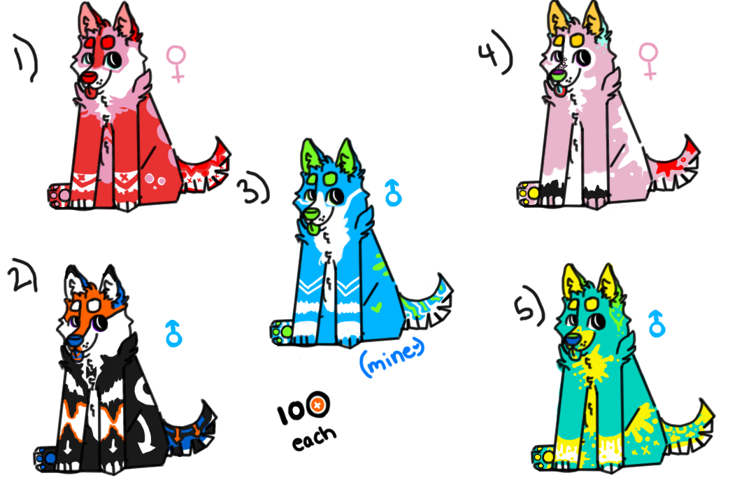 Cheap Adoptables OPEN (2/4) by Theta-Moon