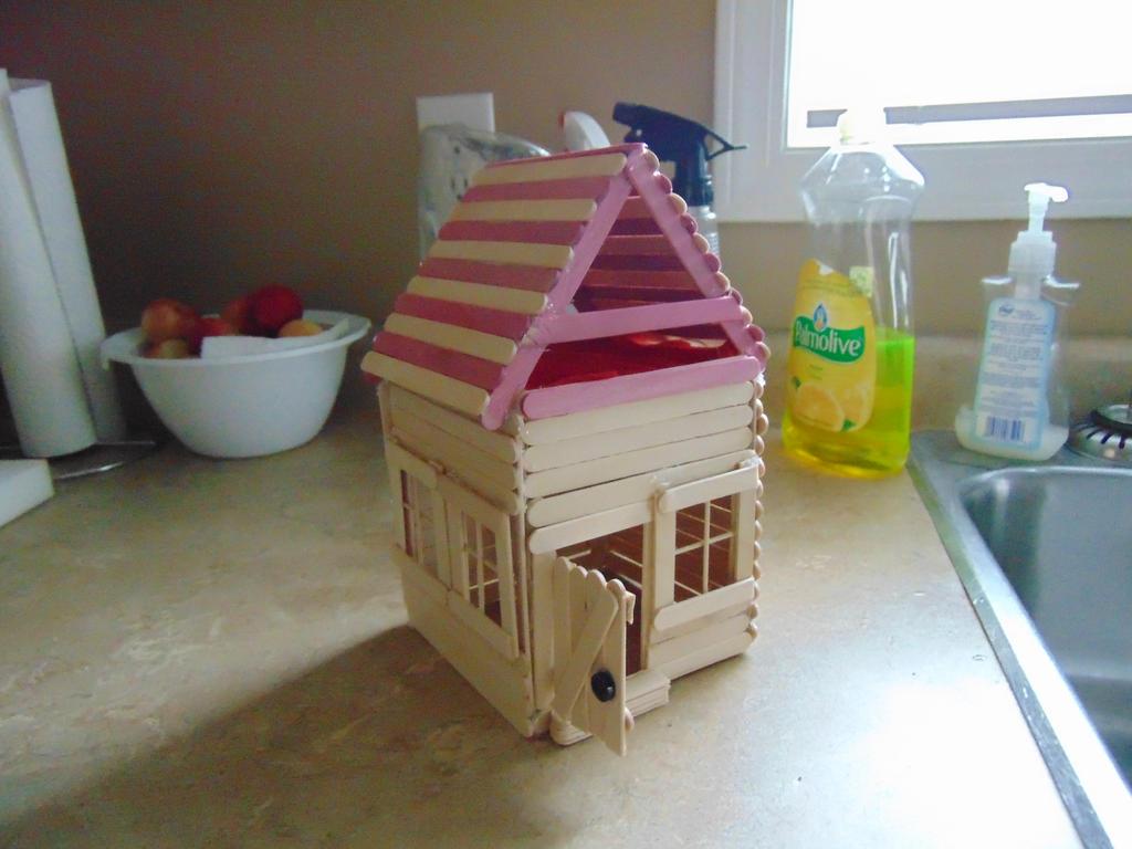 Popsicle Stick Cabin