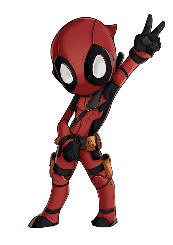 It's just a graphic of Versatile Chibi Deadpool Drawing