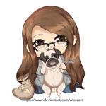 Sarah + Pug Chibi | Commission