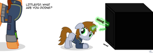 Littlepip, what are you doing?