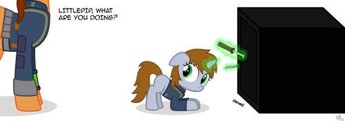 Littlepip, what are you doing? by StarlessNight22