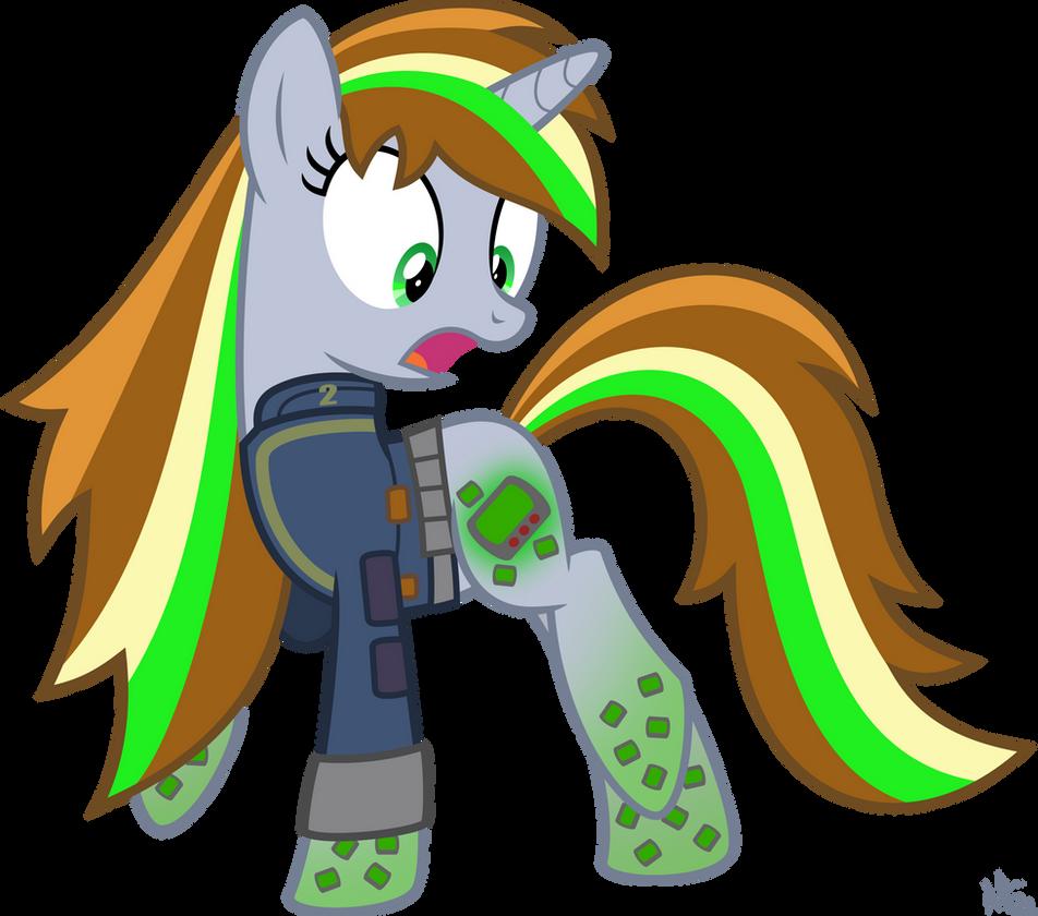 Rainbow Power Littlepip by StarlessNight22