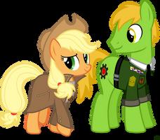 Applejack and Applesnack by StarlessNight22