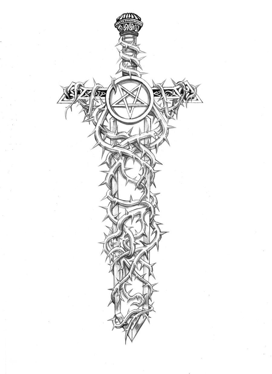 Sword with Spikes by ChristineMunz on DeviantArt