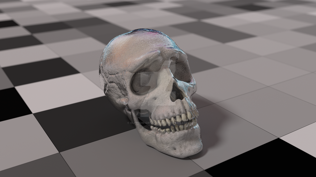 Liquid cranium by Elpsyon-Creative