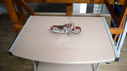 Motion track of a table with a motorbike