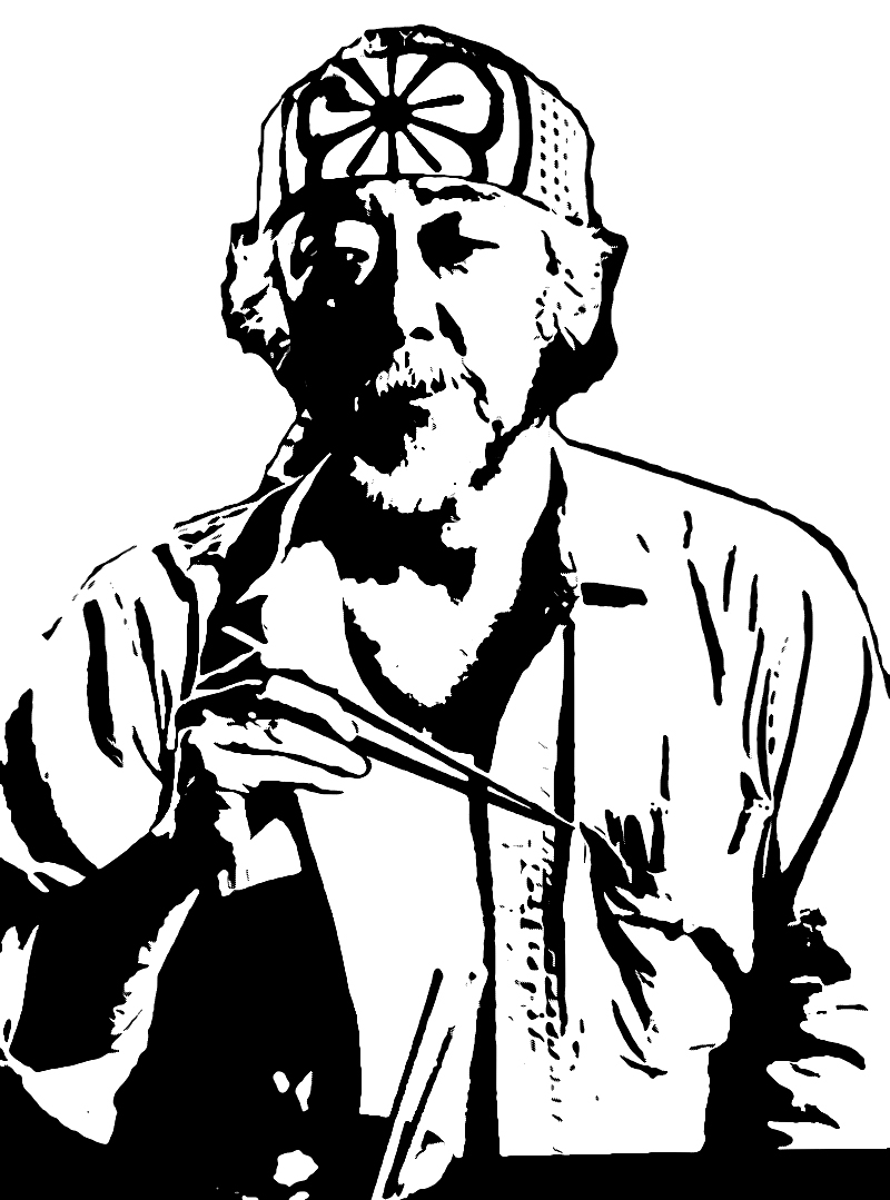 Mister Miyagi Stencil