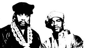 Eric B and Rakim Stencil
