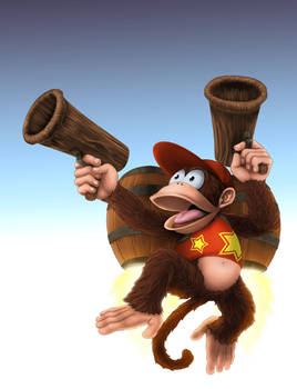 Diddy Kong in action
