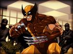Wolverine - Dressed in Brown, Fighting Ninjas