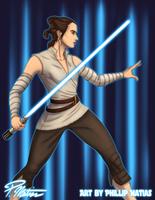 Rey training by BW-Straybullet