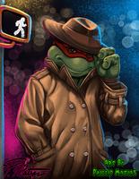 TMNT's Raphael by BW-Straybullet