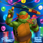 Michelangelo, the Party Dude