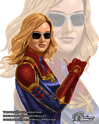 Hang Loose, Captain Marvel! by BW-Straybullet