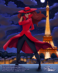 Carmen Sandiego in Paris by BW-Straybullet