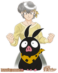 PChan and Ryoga by BW-Straybullet