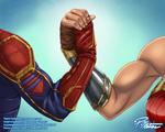 Carol's and Diana's Buff Arms