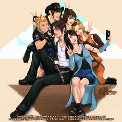 Rinoa getting a group pic