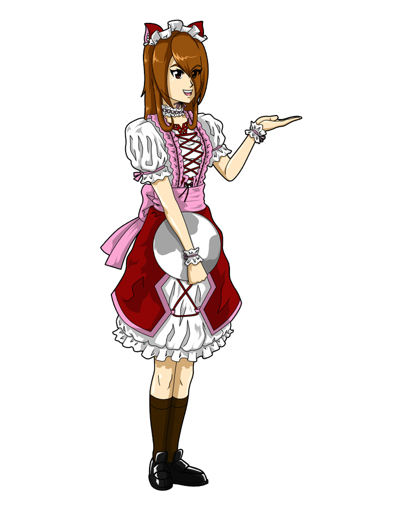 Kari in waitress outfit by BW-Straybullet on deviantART