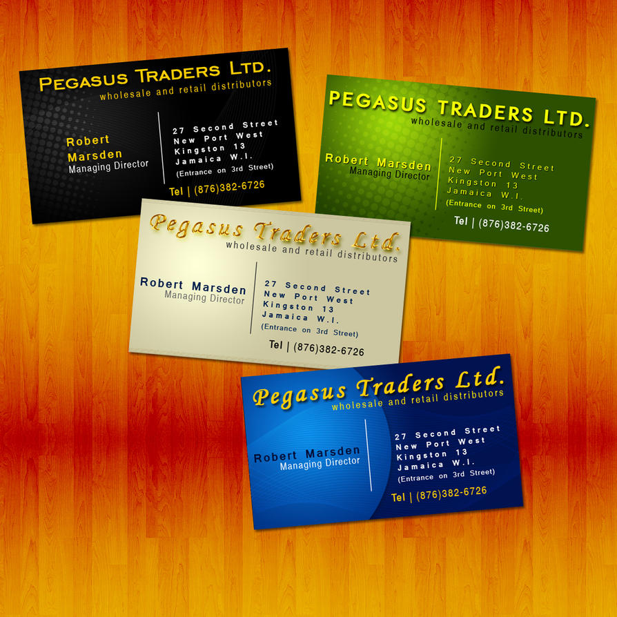 Pegasus Traders Business Cards by wiredyout on DeviantArt