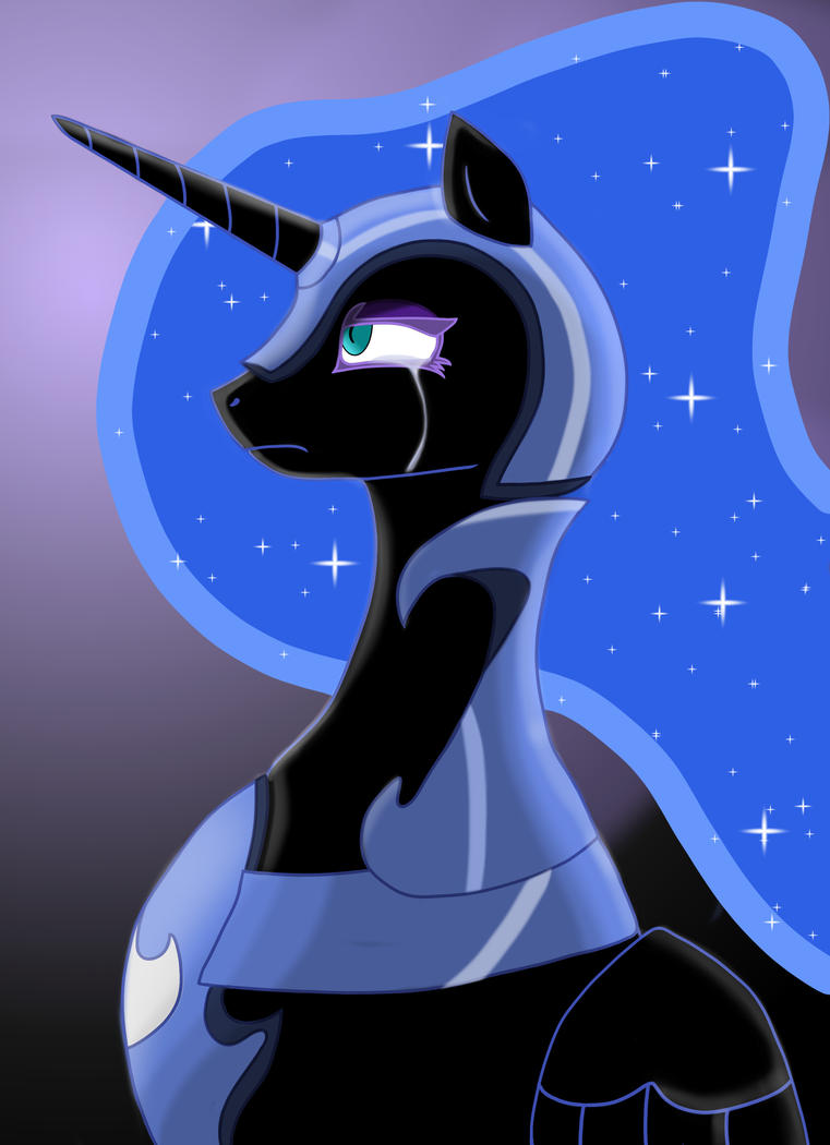 Nightmare Moon is Sad :( by Rex42