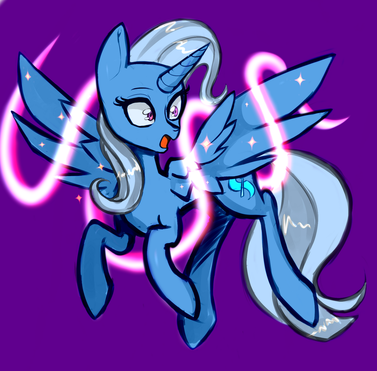 Trixie gets wings! by Rex42